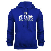 Royal Fleece Hoodie-Conference Carolinas Champs - Mens Volleyball Two Tone