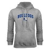 Grey Fleece Hoodie-Arched Bulldogs