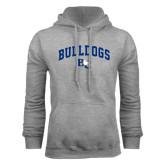 Grey Fleece Hoodie-Arched Bulldogs