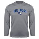 Performance Steel Longsleeve Shirt-Arched Bulldogs