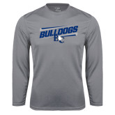 Performance Steel Longsleeve Shirt-Stencil Bulldogs
