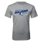 Grey T Shirt-Stencil Bulldogs