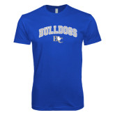 Next Level SoftStyle Royal T Shirt-Arched Bulldogs