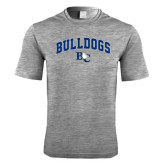 Performance Grey Heather Contender Tee-Arched Bulldogs
