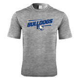 Performance Grey Heather Contender Tee-Stencil Bulldogs
