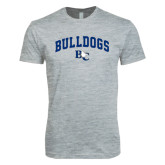 Next Level SoftStyle Heather Grey T Shirt-Arched Bulldogs