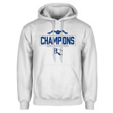 White Fleece Hoodie-2018 Womens Swimming Champions