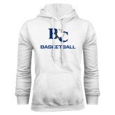 White Fleece Hoodie-Basketball