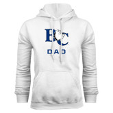 White Fleece Hoodie-Dad
