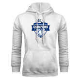 White Fleece Hoodie-Conference Carolinas Champions - Mens Volleyball