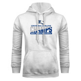 White Fleece Hoodie-Conference Carolinas Champs - Mens Volleyball Two Tone