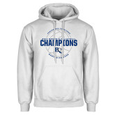 White Fleece Hoodie-2017 Womens Volleyball Champions