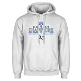 White Fleece Hoodie-2017 Womens Volleyball Champions back to back