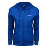 ENZA Ladies Royal Fleece Full Zip Hoodie-Wordmark