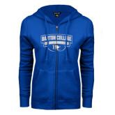 ENZA Ladies Royal Fleece Full Zip Hoodie-Barton College Bulldogs