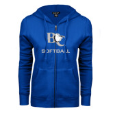 ENZA Ladies Royal Fleece Full Zip Hoodie-Softball