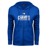 ENZA Ladies Royal Fleece Full Zip Hoodie-Conference Carolinas Champs - Mens Volleyball Two Tone