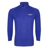 Sport Wick Stretch Royal 1/2 Zip Pullover-Wordmark