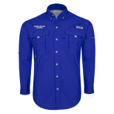 Columbia Bahama II Royal Long Sleeve Shirt-Wordmark