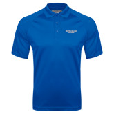 Royal Textured Saddle Shoulder Polo-Wordmark