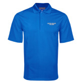 Royal Mini Stripe Polo-Wordmark