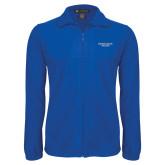 Fleece Full Zip Royal Jacket-Wordmark