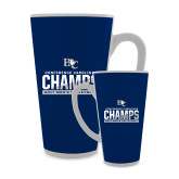 Full Color Latte Mug 17oz-Conference Carolinas Champs - Mens Volleyball Two Tone