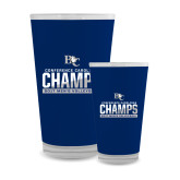 Full Color Glass 17oz-Conference Carolinas Champs - Mens Volleyball Two Tone