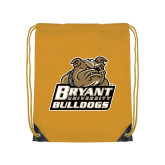 Gold Drawstring Backpack-Bryant Official Logo