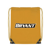 Gold Drawstring Backpack-Bryant