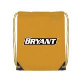 Gold Drawstring Backpack-Bryant