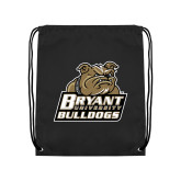 Black Drawstring Backpack-Bryant Official Logo