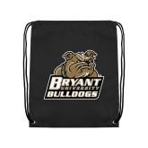 Black Drawstring Backpack-Bryant Official Logo