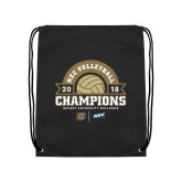 Black Drawstring Backpack-2018 NEC Volleyball Champions