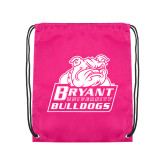 Pink Drawstring Backpack-Bryant Official Logo