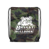 Camo Drawstring Backpack-Bryant Official Logo