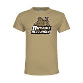 Youth Khaki Gold T Shirt-Bryant Official Logo
