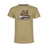 Youth Khaki Gold T Shirt-Bryant Official Logo Distressed
