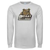 White Long Sleeve T Shirt-Bryant Official Logo