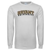 White Long Sleeve T Shirt-Arched Bryant University
