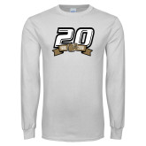 White Long Sleeve T Shirt-20th Football Logo