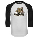 White/Black Raglan Baseball T-Shirt-Bryant Official Logo