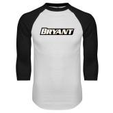 White/Black Raglan Baseball T-Shirt-Bryant