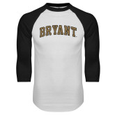 White/Black Raglan Baseball T-Shirt-Arched Bryant
