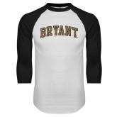 White/Black Raglan Baseball T-Shirt-Arched Bryant