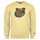 Champion Vegas Gold Fleece Crew-Bulldog Head
