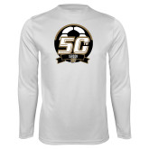 Performance White Longsleeve Shirt-50th Soccer Logo