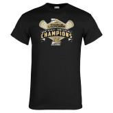 Black T Shirt-2014 Womens Lacrosse Champions