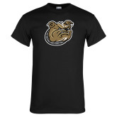 Black T Shirt-Bulldog Head