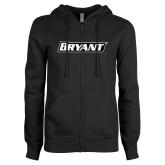 ENZA Ladies Black Fleece Full Zip Hoodie-Bryant
